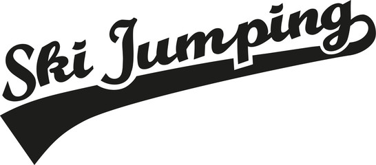 Ski jumping word