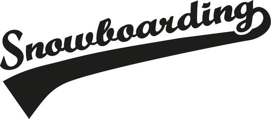 Snowboarding word