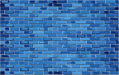 Blue Brick Wall,  Retro blue brick wall Vector,  Seamless realistic blue brick wall,  Brick wall background,  Abstract vector illustration