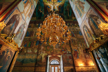 Interior Of Dormition or Assumption Cathedral in Russia