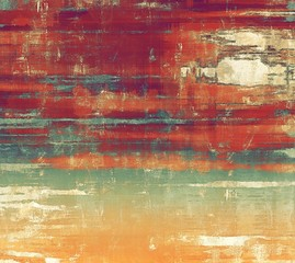 Old abstract texture with grunge stains. With different color patterns: yellow (beige); brown; red (orange); blue