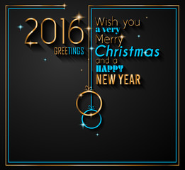 2016 Happy New Year Background for your Greetings Card.