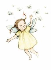 little fairy with butterflies