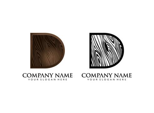 initial D wooden texture contour vector logo icon