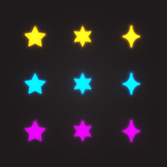 Glowing Stars Set