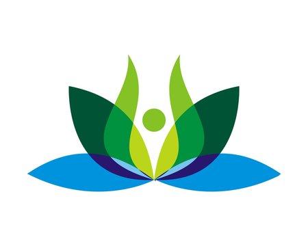 green yoga spa logo