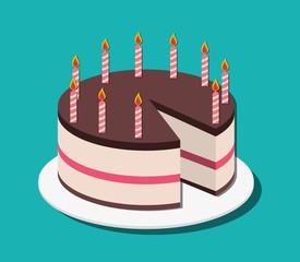 Birthday cake and desserts.