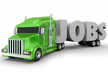 Jobs 3d Word Truck Cab Trailer New Career