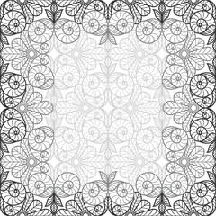 Grey Ornamental Seamless Pattern