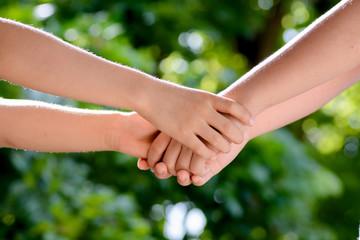 Hand together