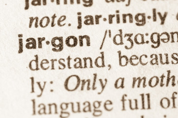 Dictionary definition of word jargon