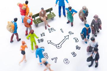 時間と大勢の人々