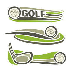 Abstract image on the golf  theme