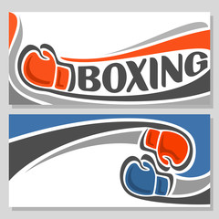 Background images for text on the theme of boxing