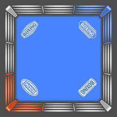 Abstract image for text in the form of a boxing ring