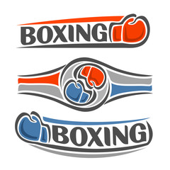 Abstract image on the boxing  theme