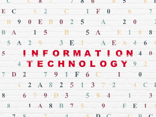 Data concept: Information Technology on wall background