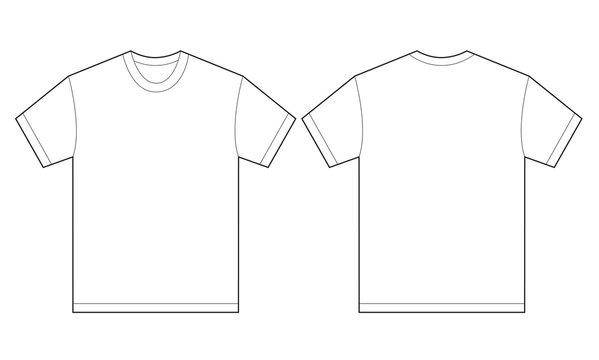 White Shirt Design Template For Men