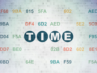 Time concept: Time on Digital Paper background