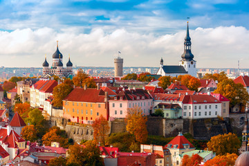 Foto op Canvas Oost Europa Aerial view old town, Tallinn, Estonia