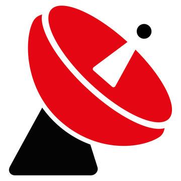 Radio Telescope Flat Icon