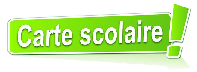 carte scolaire sur étiquette verte