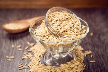oat in spoon