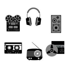 Sound equipment icons