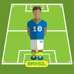 Computer game Brasil Football club player