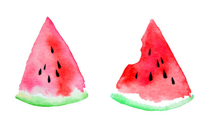 watercolor of watermelon