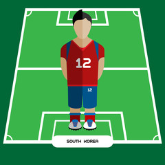 Computer game South Korea Soccer club player