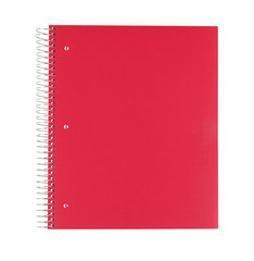 Red Notebook Isolated On White