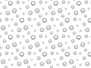Smiley faces seamless pattern background