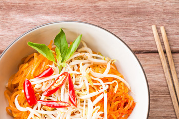 Thai style noodles, Pad-Thai, Thai cuisine.