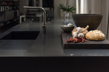 Black Granite Kitchen