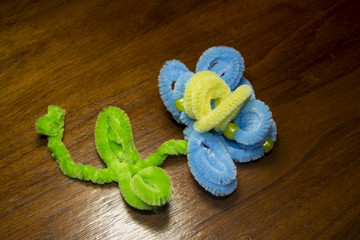 Blue Pipe Cleaner Flower