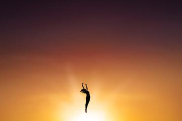 Ballet dancer dancing on the air