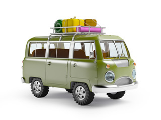 safari van with roofrack