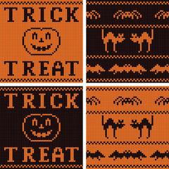 Set of four Halloween jersey textures