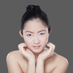 Gorgeous girl with beautiful skin