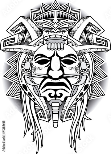 Warrior Tribal Mask Vector Illustration Stock Image And Royalty