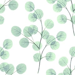 Background with round leaves/ Seamless pattern 4