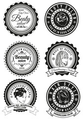 Set of badges for beauty and haidressing salons