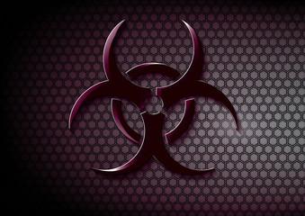 Biohazard symbol on textured background