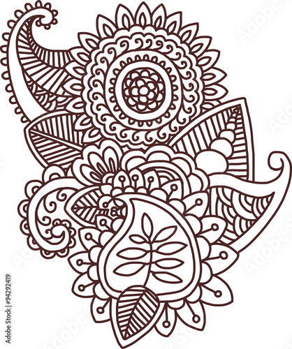 vector ethnic mehndi pattern template for mehndi ornament hand rh fotolia com