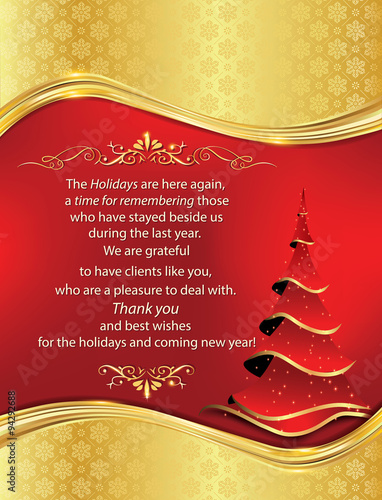 Business thank you greeting card for christmas and new year business thank you greeting card for christmas and new year especially created for companies that reheart Choice Image