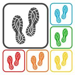 Sport shoe icons set