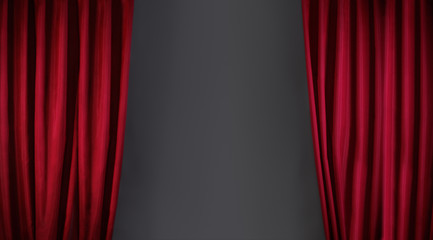 red curtain or drapes