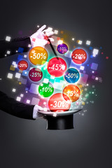 Wall Mural - magic wand with discounts