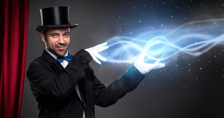 Wall Mural - magician from leading his show